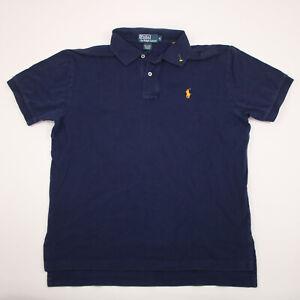 Polo Ralph Lauren Shirt Adult Medium Navy Blue Short Sleeve Casual Polo Men's