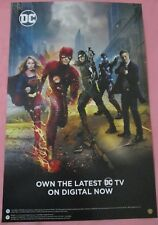 Arrow The Flash Gotham Supergirl TV Show Promo Poster Fan Expo Comic Con 2018