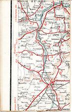 91 La Ferté-Alais Mennecy Milly 1925 carte/lin (partie) orig. Malesherbes Maisse