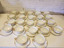 Haviland Limoges France White & Gold Trim Tea Cup and Saucer