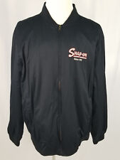Choko Men's Black Snap On Jacket Size XL Lightweight Full Zip Long Sleeve