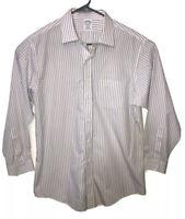BROOKS BROTHERS Regent Non Iron Supima Cotton Dress Shirt 16.5.-33 stripes