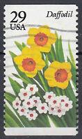 USA Briefmarke gestempelt 29c Daffodil Blumen aus Markenheft / 215