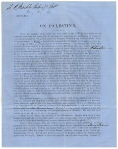 On Palestine [prospectus for organising Limited Liability Land Acquisition Co.]