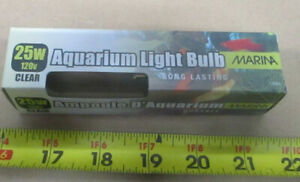Aquarium Lighting Showcase Light Bulb - Clear Terrarium Fish Tank Bulb 25W