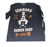 NARUTO SHIPPUDEN Shonen Jump M Long Sleeve T-Shirt ICHIRAKU Ramen Shop Black (M)