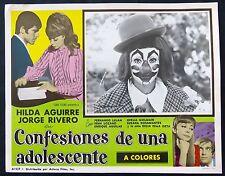 Hilda Aguirre Jorge Rivero CONFESIONES DE UNA ADOLESCENTE LOBBY PHOTO CIRCUS 69