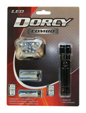 Dorcy  30/17 lumens Black  LED  Flashlight and Headlight Combo Pack  AAA Battery