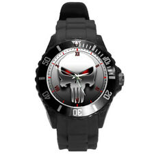 The Punisher Skull Mask Black Round Casual Sport Watch