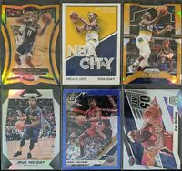 Lot of (6) Jrue Holiday, Including Select die-cut /65, Prizm orange ice & more