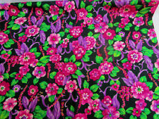 VTG..60s 1 YARD..FLOWER POWER..BRIGHT COLORS..BARKCLOTH..FABRIC..NEW OLD STOCK