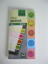 Haftmarker Design Smile grün gelb orange blau rot 20x50 mm 200 S (HN502) NEU!