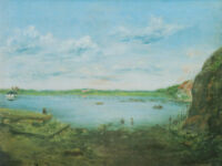 "stunning art 24x20 oil painting 100% handpainted on canvas ""landscape"""