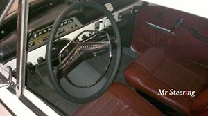 FITS VOLVO P122 S AMAZON 1956-1971 LEATHER STEERING WHEEL COVER DOUBLE STITCHING