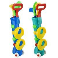 Childrens Plastic Golf Caddy Set Kids Outdoor Garden Summer Fun Gift Game Toy