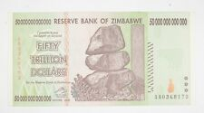 RARE 2008 50 TRILLION Dollar - Zimbabwe Note - 100 Series *962