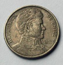 1975 CHILE Coin - 1 Peso - circulated/toned - Bernardo O-Higgins