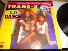 TRANS X 3D DANCE REMIX 1984 POLYDOR RECORDS REMIX WITH 3D BRAVO BRILLE ITALO DE