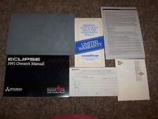 1991 Mitsubishi Eclipse GS GSX 1.8L 2.0L User Guide Owner Manual