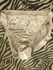 Vtg Second Skin Victorias Secret Hi Cut nylon / spandex Gold panties/briefs M