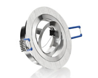 LED Aluminium Einbaustrahler Bicolor Rund gebürstet schwenkbar GU10 u. GU5.3