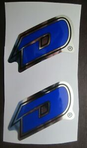 """Set of 2 GT DYNO """"D"""" Stickers frame/fork BLUE/BLACK/CHROME (FREE SHIPPING)"""