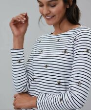 Joules Women Harbour Print Long Sleeve Jersey Top Shirt - Size 10 &