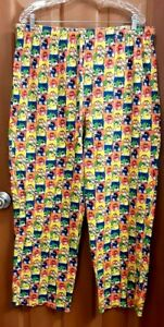 """M&M's Men's Lounging Pants Multicolored With Drawstring  36"""" Waist"""