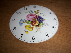 Round Rustic PAPER (CARD) Clock Dial - 125mm MINUTE TRACK -Arabic- Floral-Parts