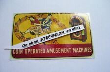 Wurlitzer 1015 Jukebox machine Water Release Slide Decal Juke vintage vending