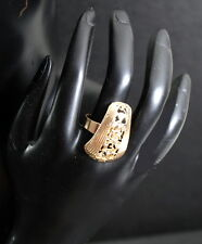 Ring Paris Fingerring Vergoldet Design Damenring Verstellbar Gothik Gold