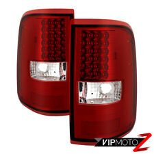 """""""FACTORY RED"""" LED Parking Tail Lights Lamps Pair For 2004-2008 Ford F150 F-150"""