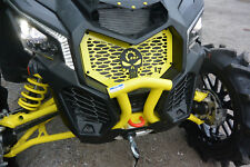 Black / Yellow Punisher BRP Grill / Grille Can-Am Maverick X3 XRS XDS XMR