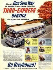 TRAVEL TOURISM TRANSPORT GREYHOUND BUS USA VINTAGE ADVERTISING POSTER ART 2358PY