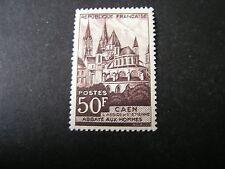 FRANCE, SCOTT # 674, 50FR. VALUE BLACK BROWN 1951  SCENES ISSUE MH