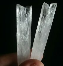 BEST!! 2 NATROLITE Crystal Wands Terminated Points Natrolite Synergy 12 Mineral