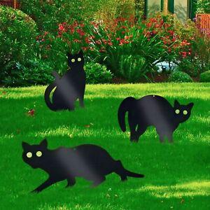 Pack of 3 Metal Cat (Bird, Animal,Fox, Pest) Scarers, Repeller, Deterrent Garden