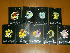 Pokemon Center Eevee Collection Colorful Pins Complete 9 Badge Set Umbreon SM
