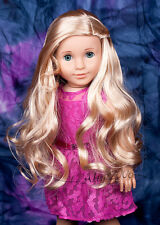 New ListingCustom American Girl Doll blue eyes Marie Grace Tenney body and blond wig Ooak