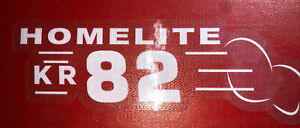 Homelite Go-Kart Decal OLD SCHOOL 1960 KR 82 Decal Reproduced From Original