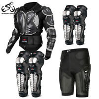 Motorcycle Elbow Knee Pads Protective Jacket Shorts Set Motocross Body Protector