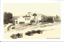 San Juan Capistrano Mission CA Postcard Sepia Old Cars Parked Jewel of Missions