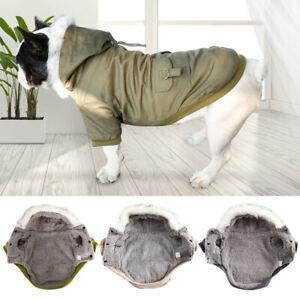 Pet Puppy Dog Cat Clothes Winter Warm Fleece Padded Coat Vest Jacket Apparel New