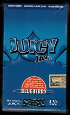 Juicy Jay's BLUEBERRY Flavored 1 1/4 Size Hemp Rolling Papers - BOX/ 24 PACKS