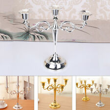 Metal Candle Holder Candelabra Stand Dining Table Candlesticks Home Table Decor