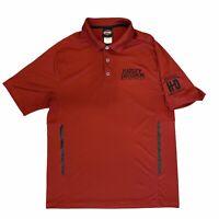 Harley Davidson Short Sleeve Athletic Polo Shirt Men's Large Quebec Canada
