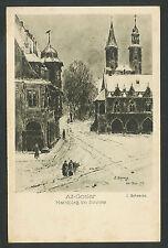 Alt-Goslar  Marktplatz im Schnee