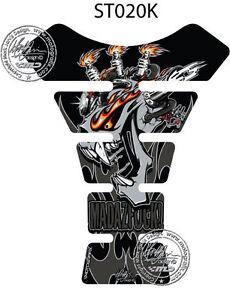 Mad Az F K Argent Noir 3D Gel Moto Réservoir Moto Graphique Protection Universel