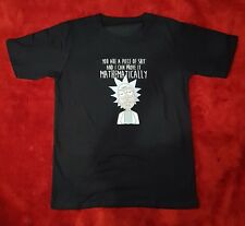 Rick and Morty Prove it Mathematically T-shirt Tshirt Tee Men Black XL New -AUS-