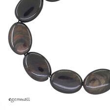 10PC Mahogany Obsidian Flat Oval Beads 13x18mm #89052